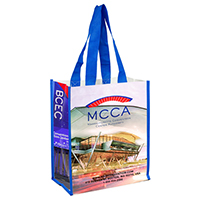 Full Color Laminated Woven Wrap Tote and Shopping Bag